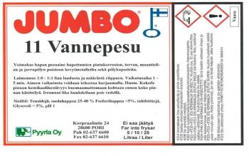 Jumbo 11 Vannepesu