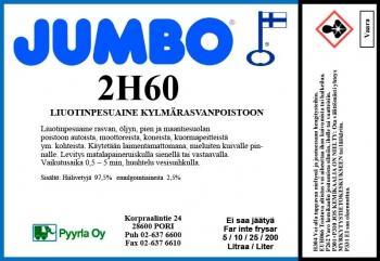 Jumbo 2H60 Liuotinpesuaine kylmärasvanpoistoon