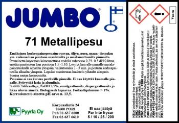 Jumbo 71 Metallipesu
