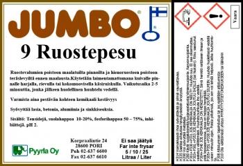 Jumbo 9 Ruostepesu