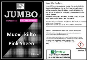Jumbo Muovikiilto Pink Sheen